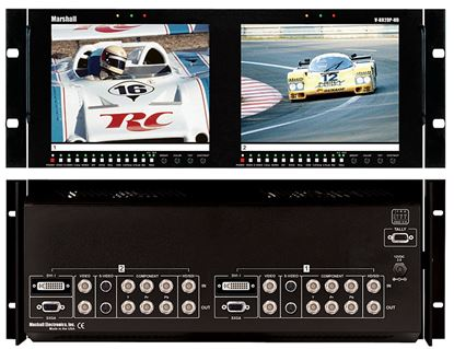 Picture of V-R82DP-HD Dual 8.4' LCD Rack Mount Panel with Multiformat inputs