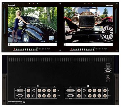 Picture of V-R102DP-HD Dual 10.4' LCD Rack Mount Panel with Multiformat inputs