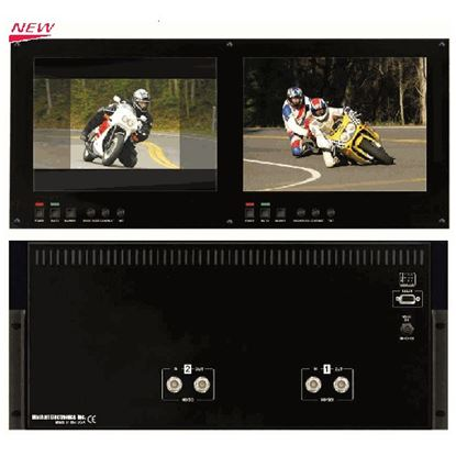 Picture of V-R1042DP-TE Dual 10.4' High Def 1024x768 Monitor Set with HDSDI inputs, TE Line, 5RU