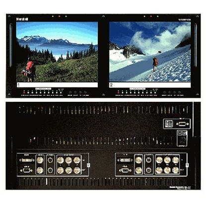 Picture of V-R102DP-HDA Dual 10.4' LCD Rack Mount Panel with HDA + DVI inputs