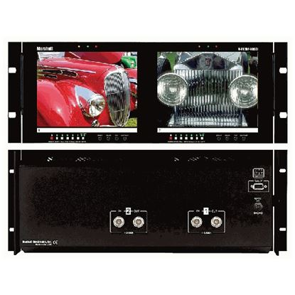 Picture of V-R82DP-HDSDI Dual 8.4' LCD Rack Mount Panel with HDSDI Input