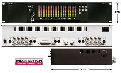 Picture of AR-DM2-B 16 Channel Digital Audio Monitor - 2RU Mainframe with Tri-Color LCD Bar Graphs