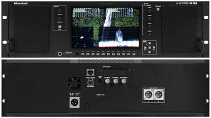 Picture of OR-701A Single 7' Full Featured 3RU Rack Mount Monitor with Audio Speakers and Balanced +4dBu line outputs